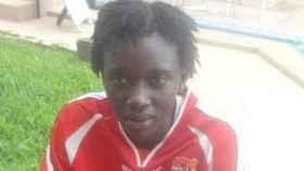 Fatim Jawara, portera de la selección de Gambia.