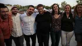 Maestre, Espinar, Urbán y Sánchez, cuando no les separaban las candidaturas.