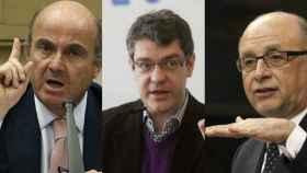 Los 'ministros económicos', Guindos, Nadal y Montoro.