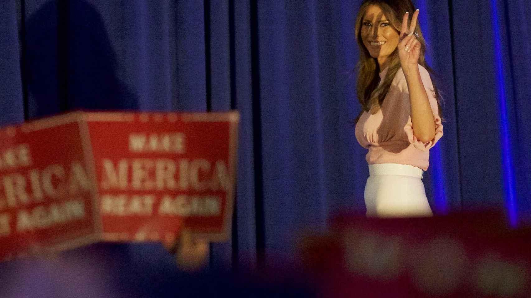 Melania Trump durante un acto este jueves en Pensilvania