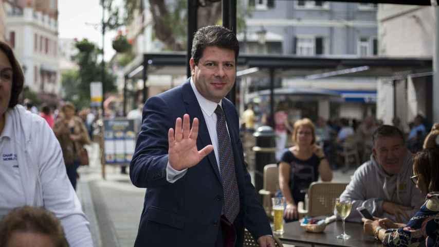 Fabian Picardo, ministro principal de Gibraltar, por Main Street en una imagen de archivo