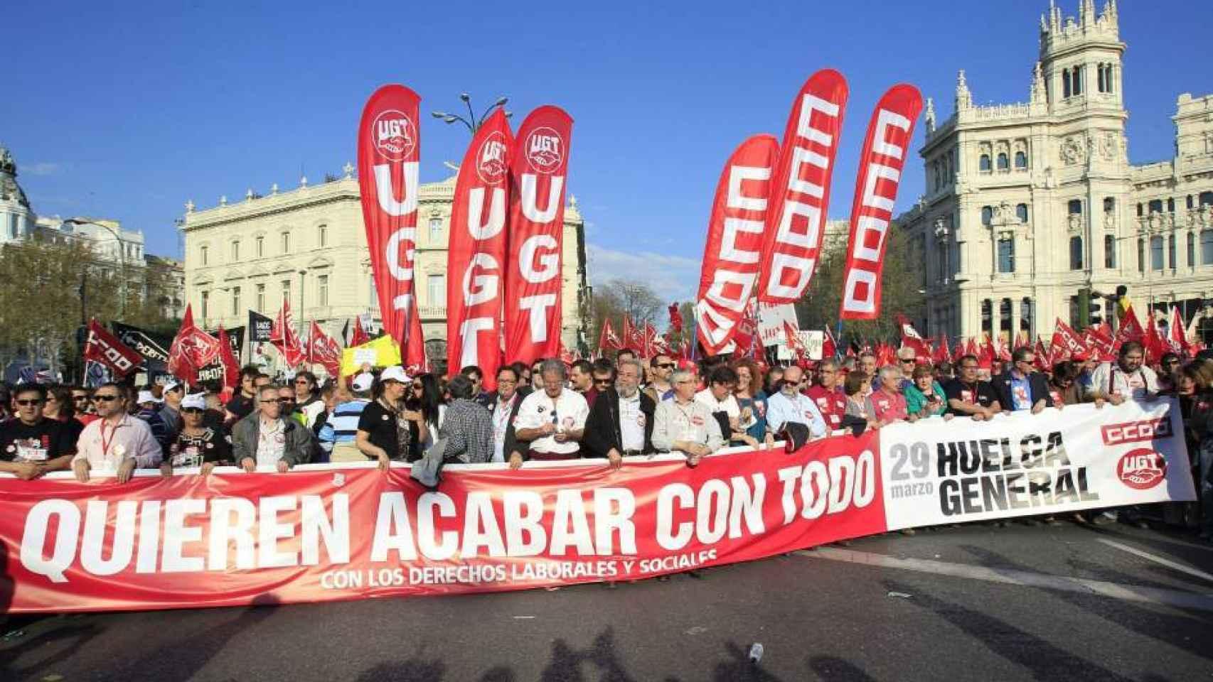 Huelga general de 2012 en Madrid.