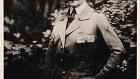Anne Morgan vestida de uniforme en Francia.