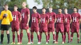 Imagen del equipo de fútbol de Harvard.