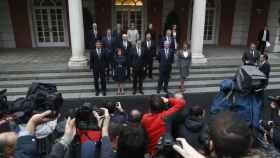 El Ejecutivo, durante la foto de familia antes del Consejo de Ministros
