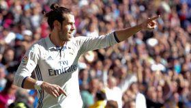 Bale celebra uno de sus goles ante el Leganés.