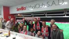 Los actores de Juego de Tronos en el estadio del Sevilla FC.
