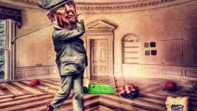 Trampas, presiones y machismo: el golf es el último refugio de Donald Trump