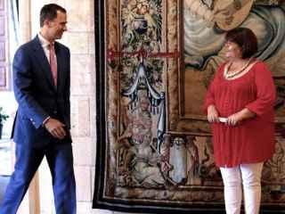 Xelo Huertas, el pasado mes de agosto en el Palacio de la Almudaina.