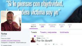 La cuenta de Twitter de Torbe proclama su inocencia.
