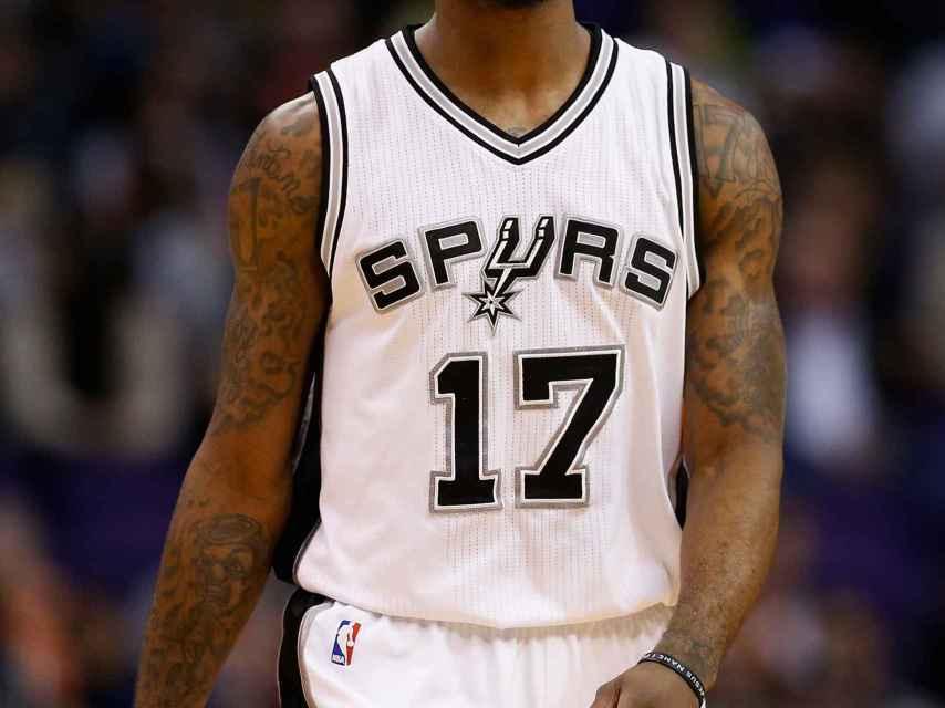 Jonathon Simmons en un partido con los San Antonio Spurs.