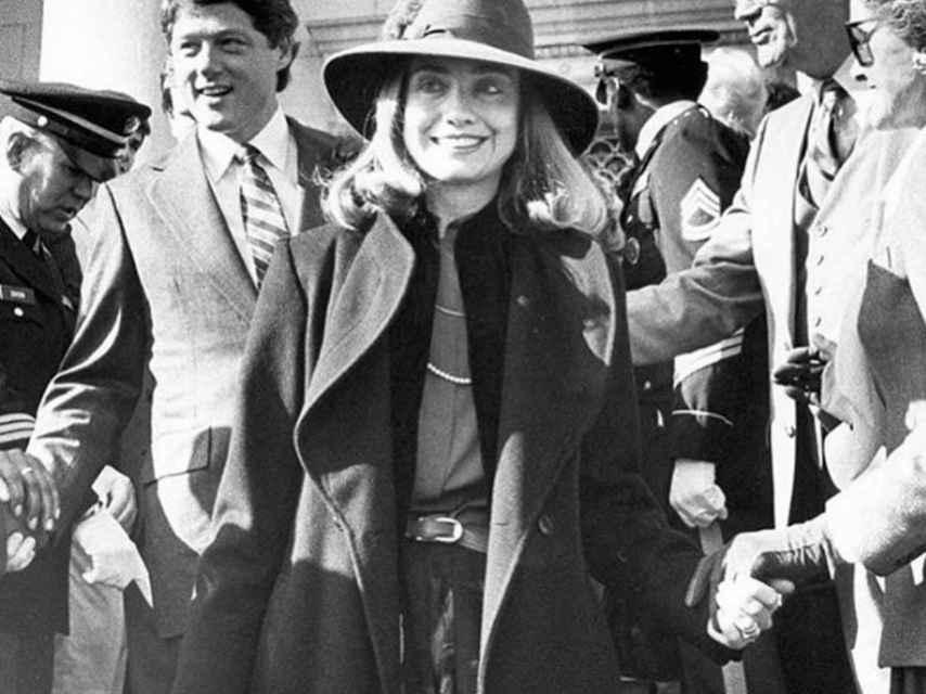 Hillary Clinton tras la primera victoria electoral del matrimonio, en Arkansas