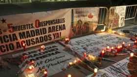 Acto en recuerdo de las cinco jóvenes que fallecieron en el Madrid Arena