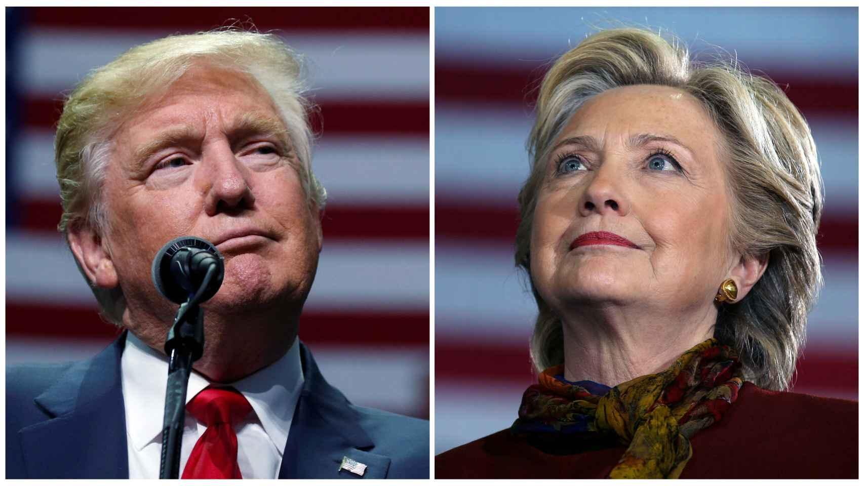 Donald Trump y Hillary Clinto.