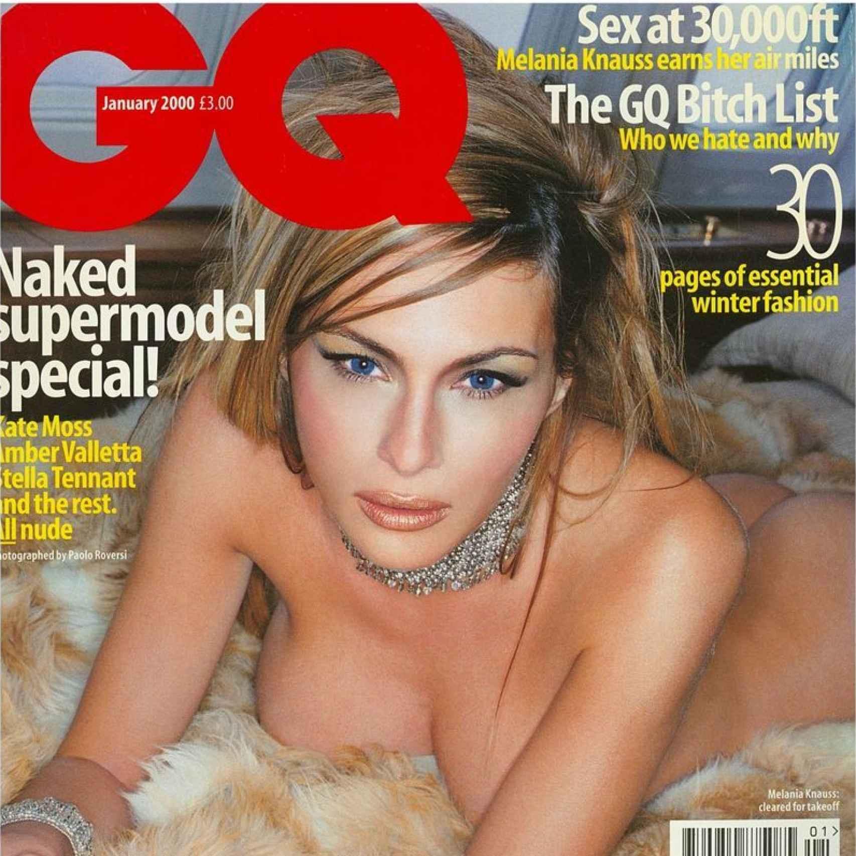 Melania Trump en la portada de GQ en 2000
