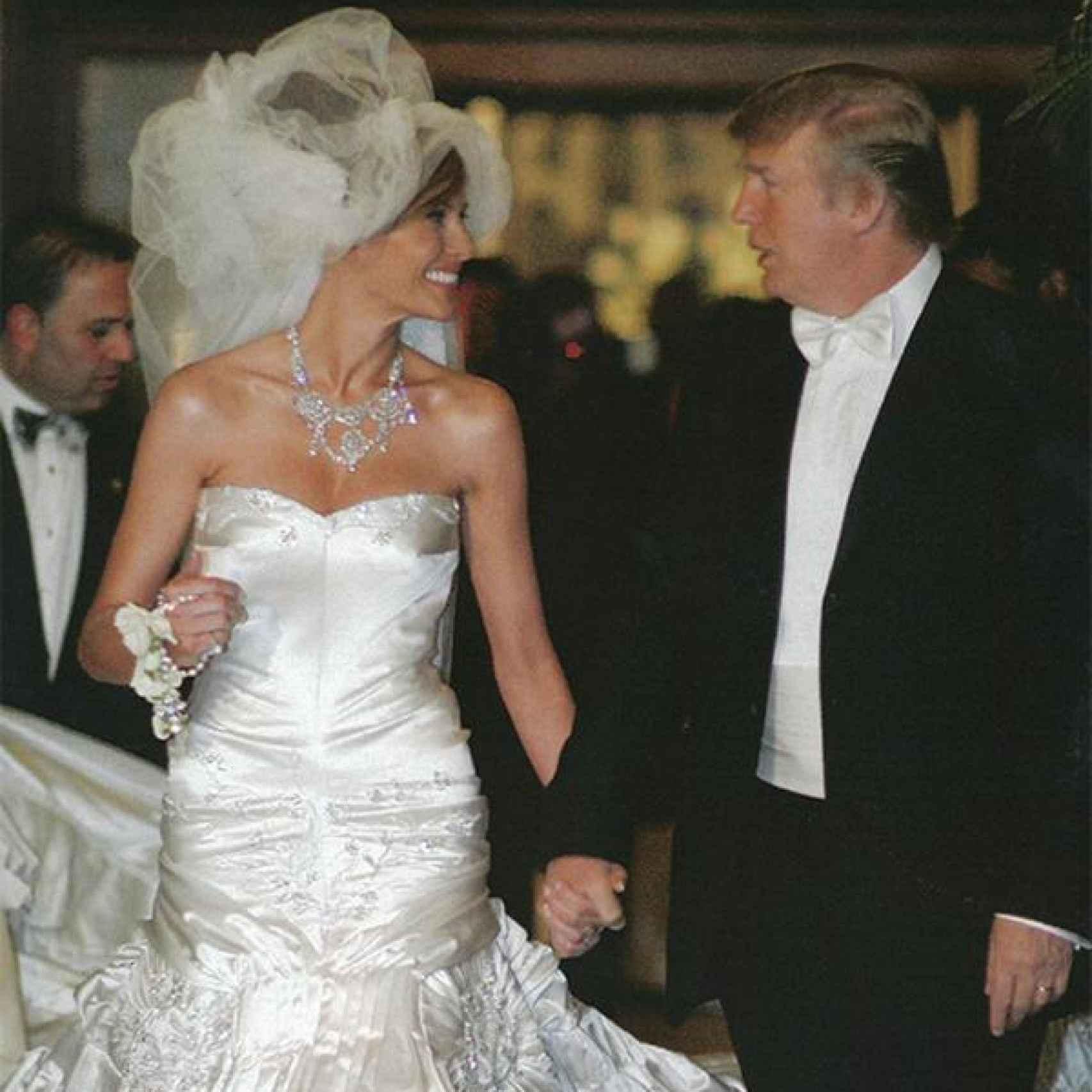 Melania y Donald, el día de su boda