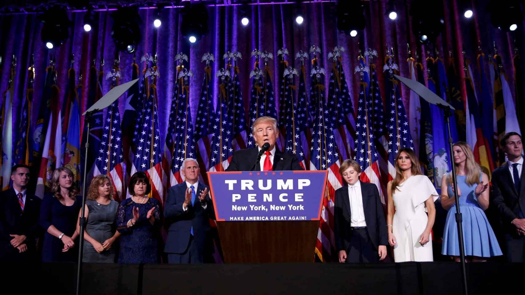 Donald Trump, tras ganar las elecciones.