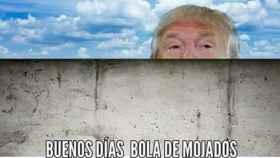 Uno de los montajes sobre Trump y su muro.