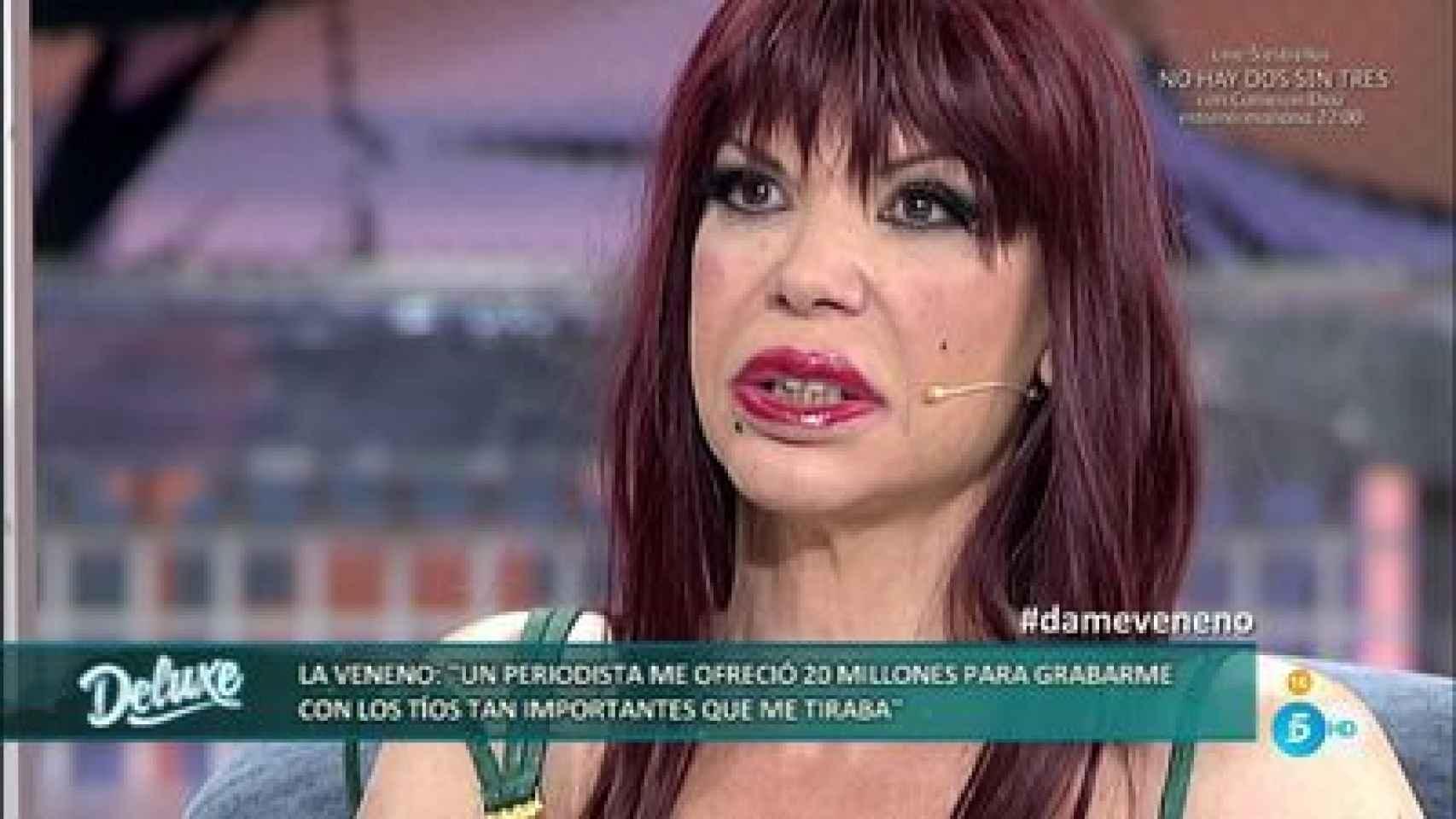 La Veneno en su última aparición televisiva.