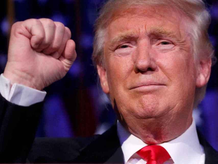 Trump celebra su victoria.