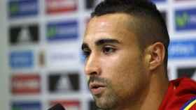 Sergio Asenjo, en la rueda de prensa con la Selección.