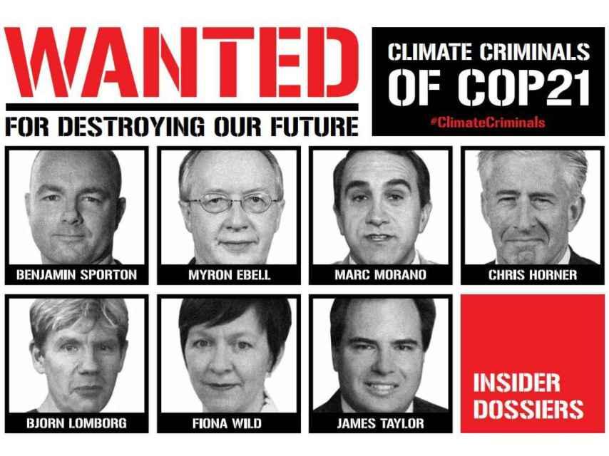 Los criminales climáticos de la COP21, según los ecologistas.