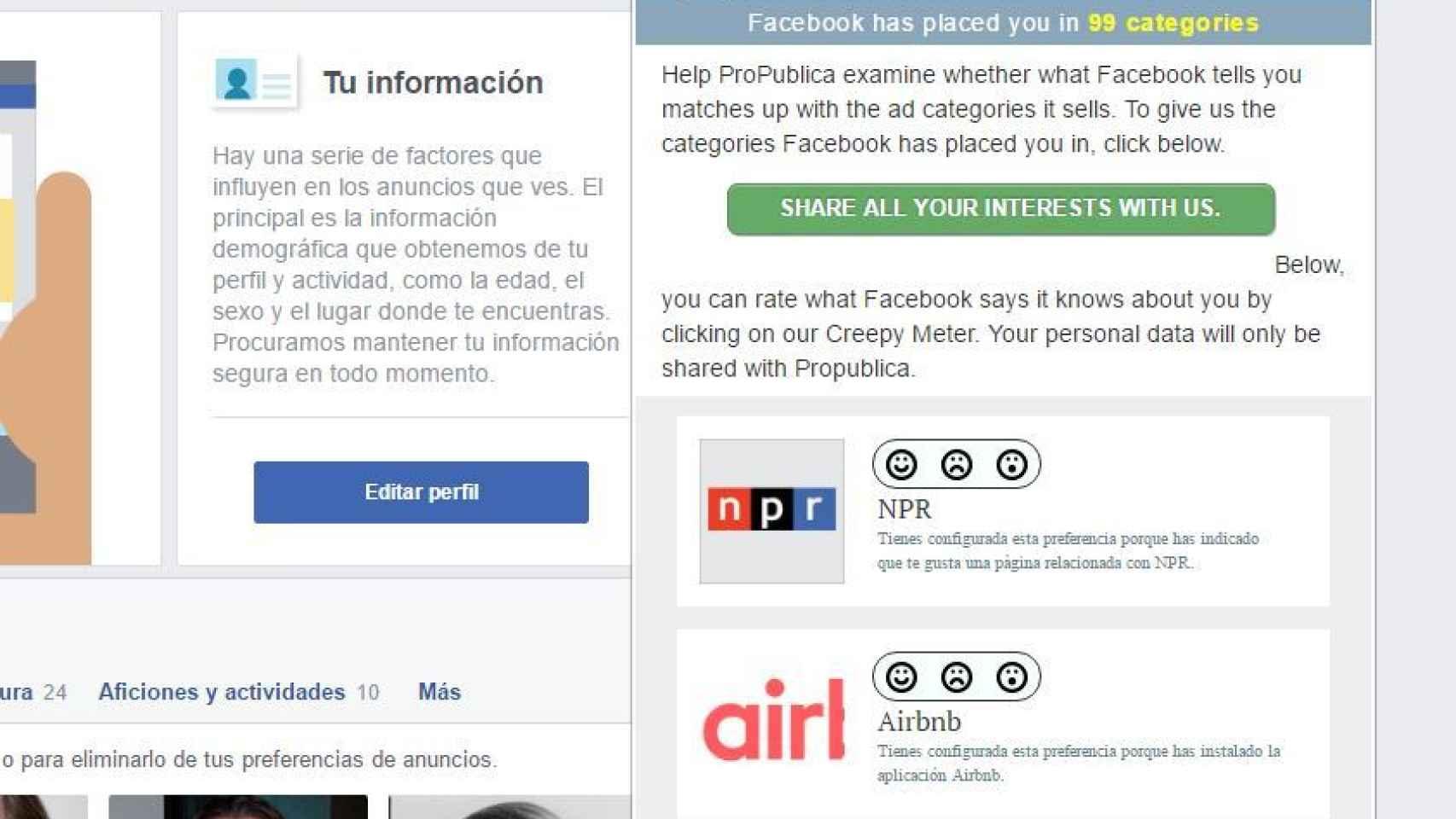 La herramienta para saber qué sabe Facebook de ti.