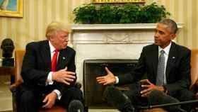 Obama y Trump, en su encuentro en la Casa Blanca.