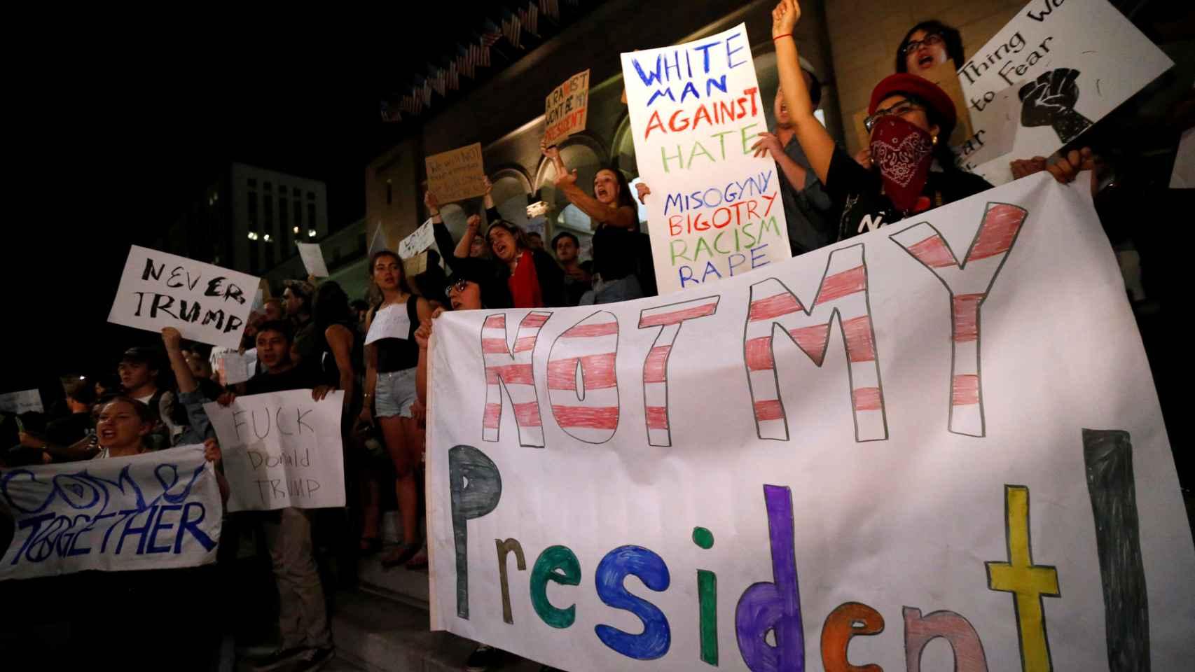 Protestas contra Trump en California.
