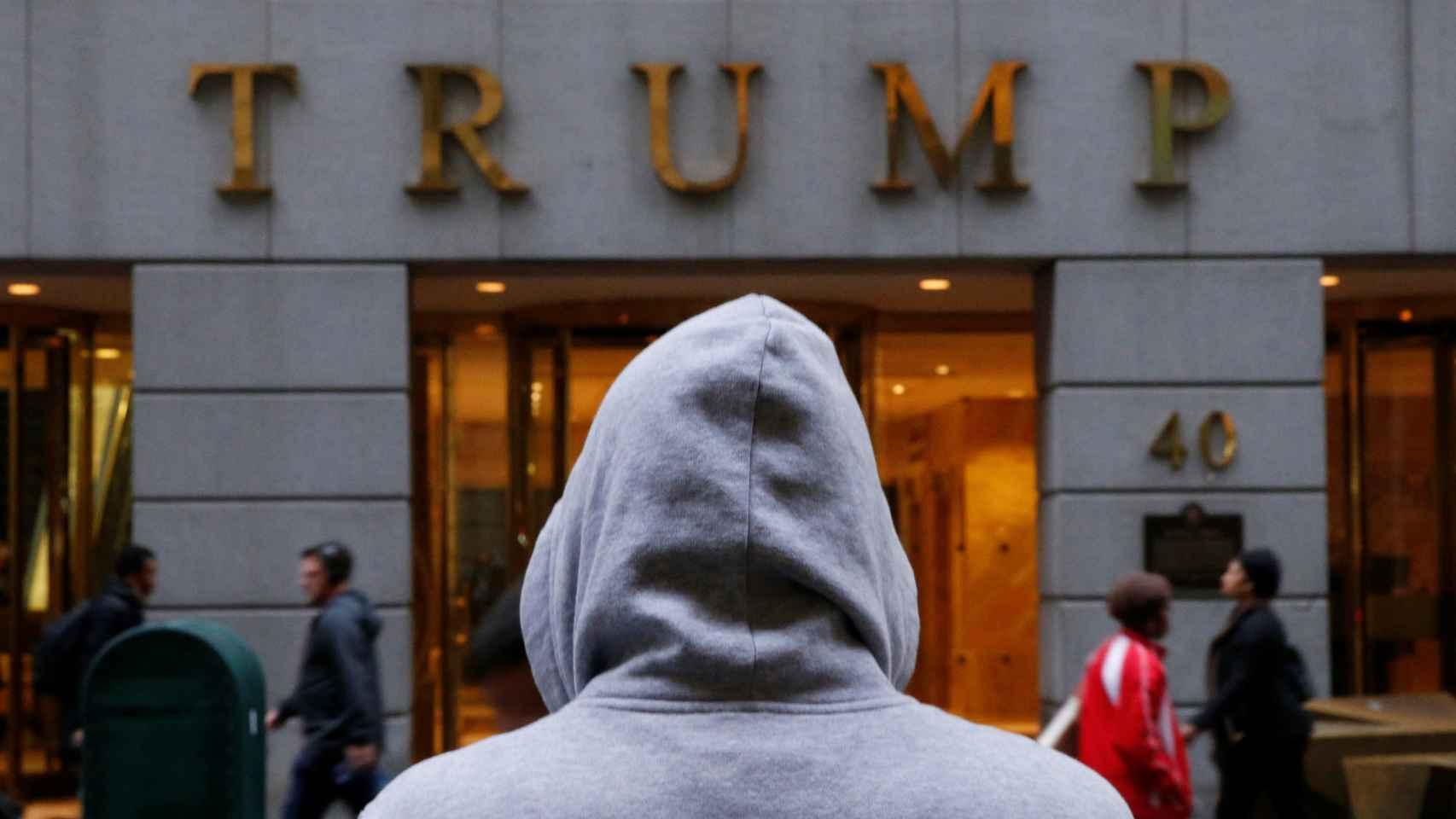 Imagen del edificio Trump en el distrito financiero de Nueva York.