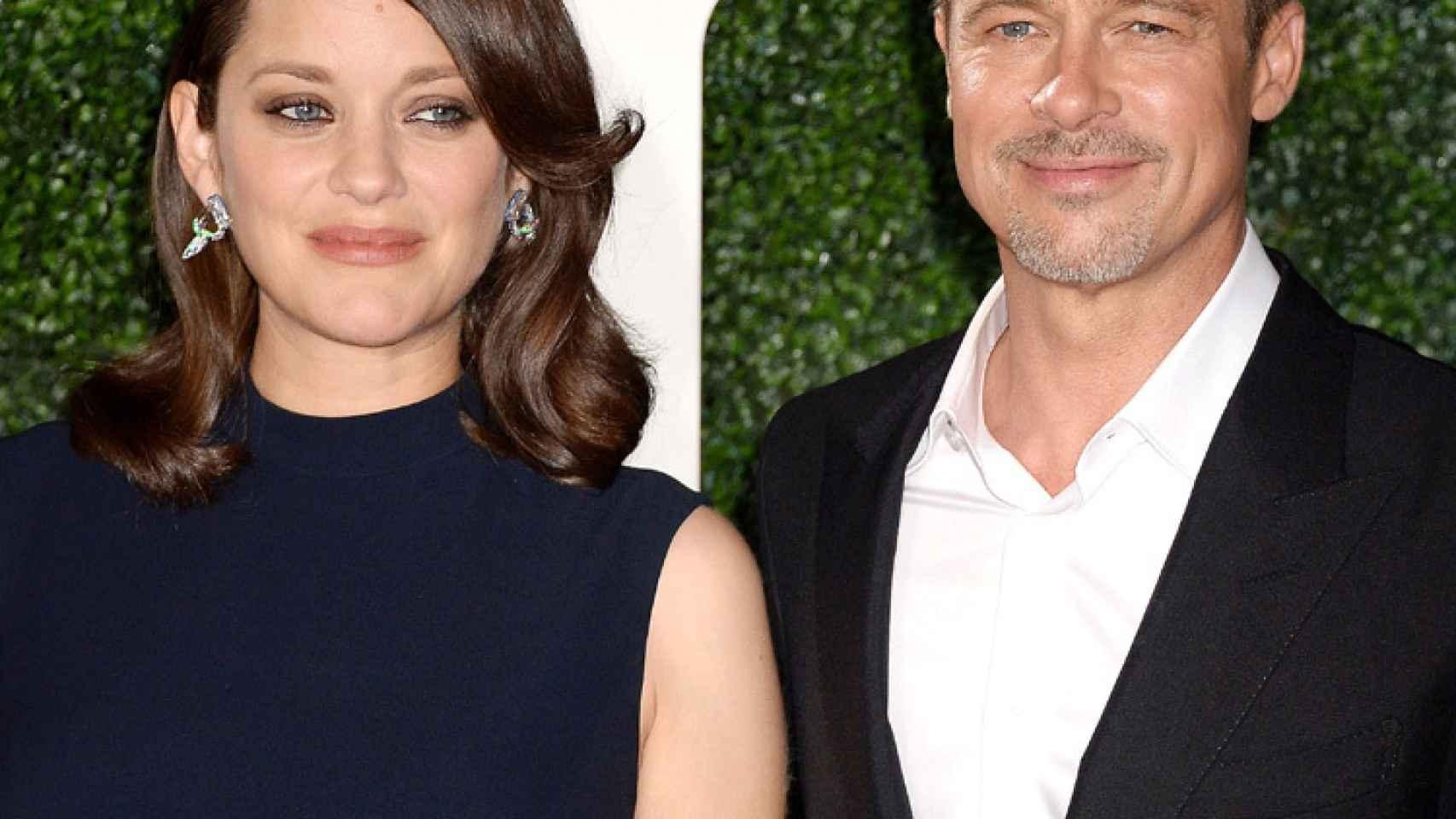 Brad Pitt y Marion Cotillard en el estreno de su película.