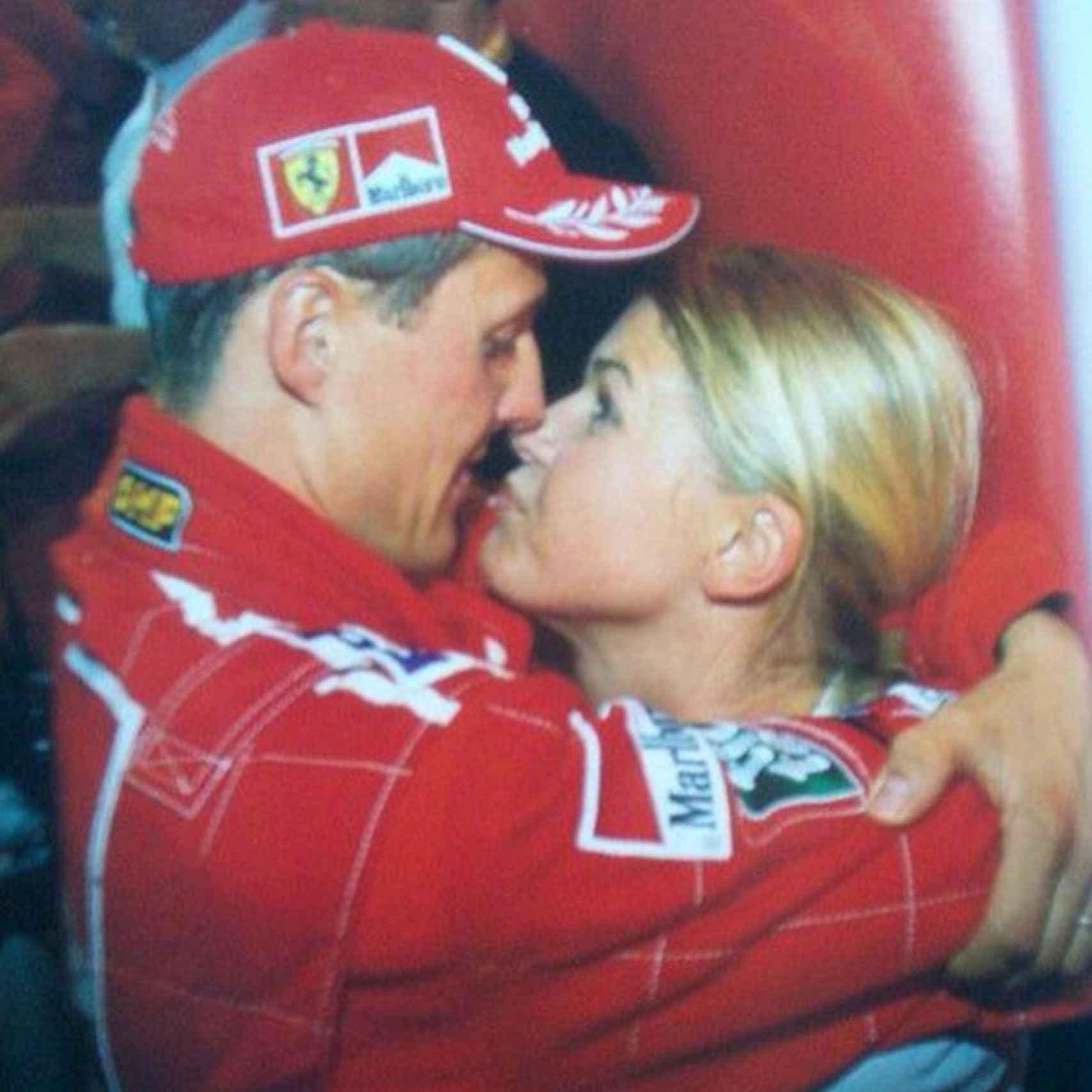 Michael Schumacher, con su mujer, Corinna