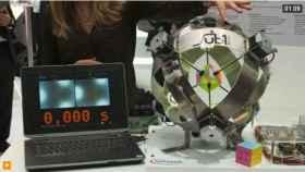 Este robot resuelve el cubo de Rubik en 0,6 segundos