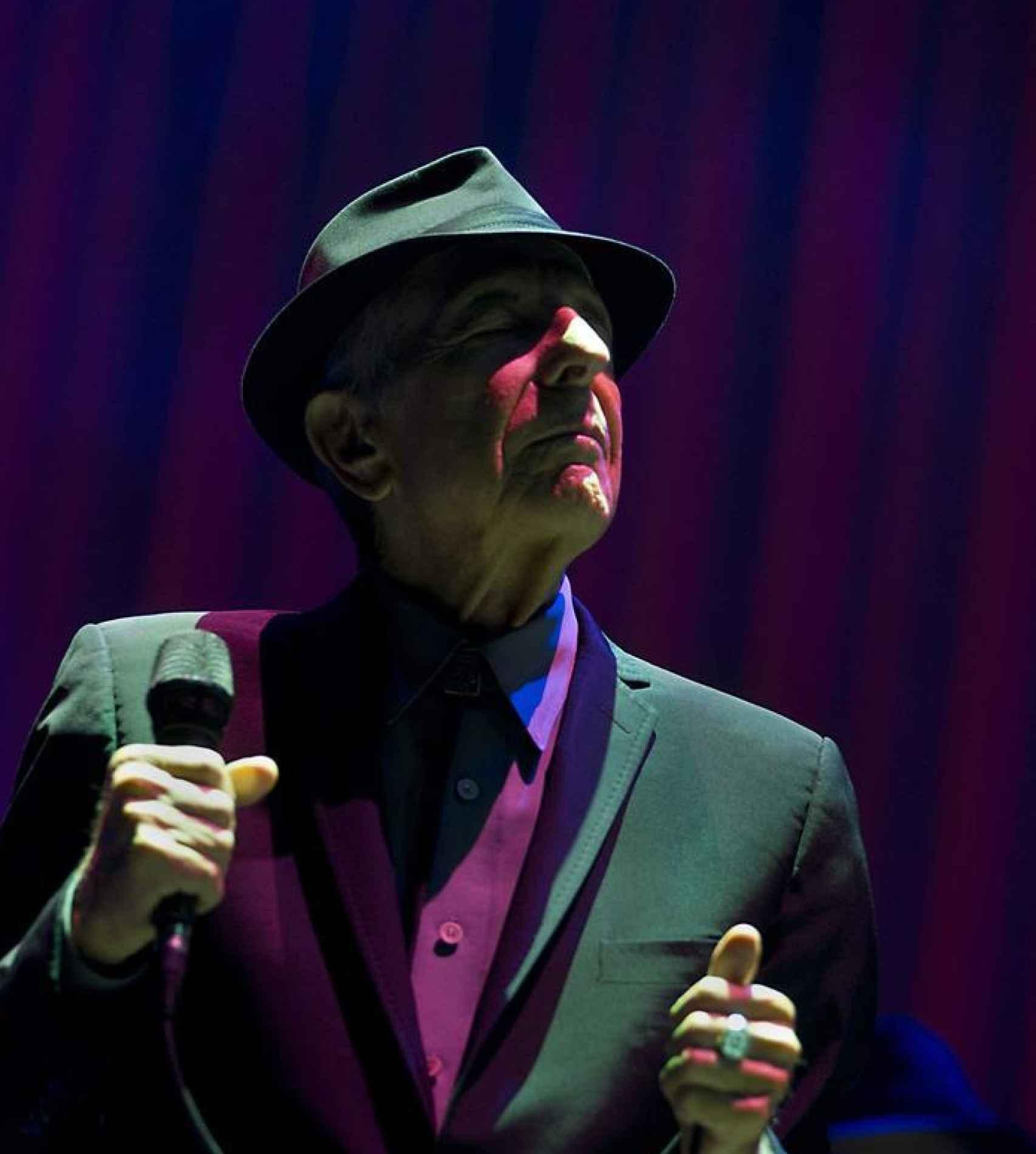 Leonard Cohen en 2013, en una presentación en el Ahoy Arena, en Rotterdam (Holanda).