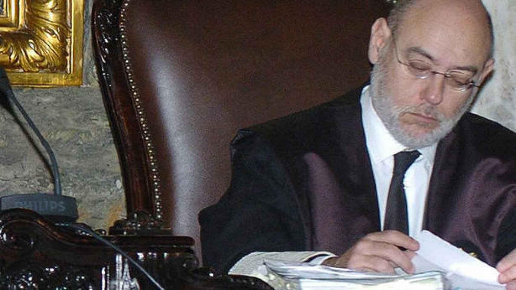 José Manuel Maza, durante un juicio