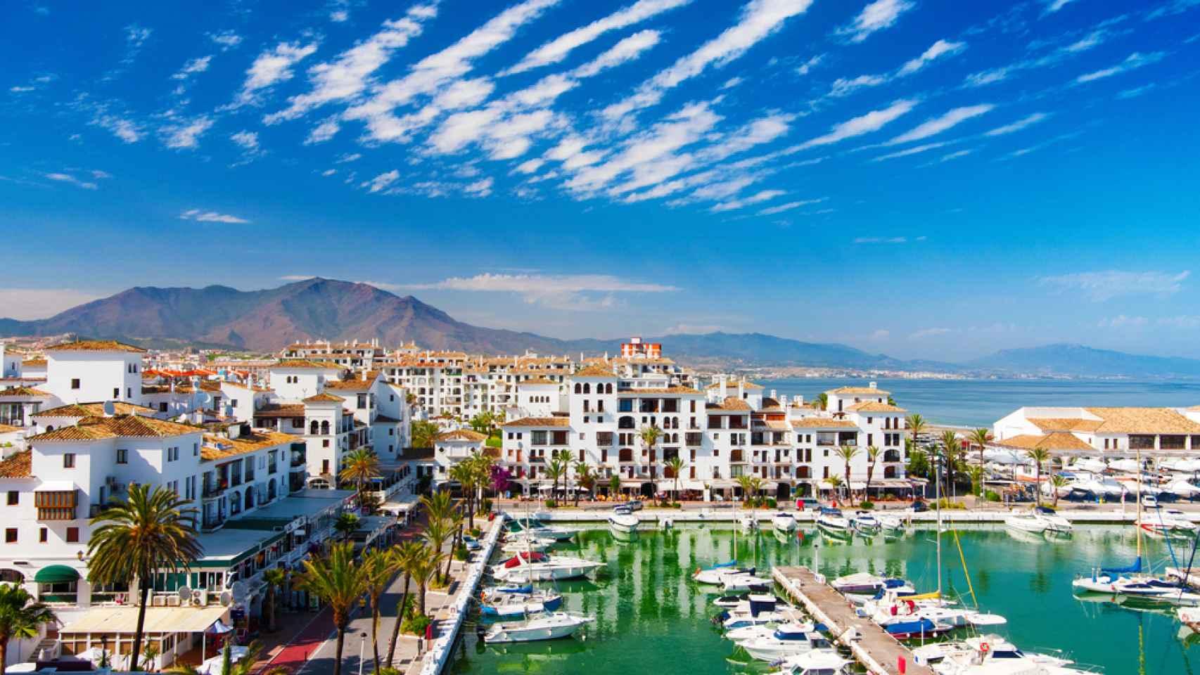 Puerto Banus, la zona más elitista de Marbella, considerada la 'capital' de la Costa del Sol.
