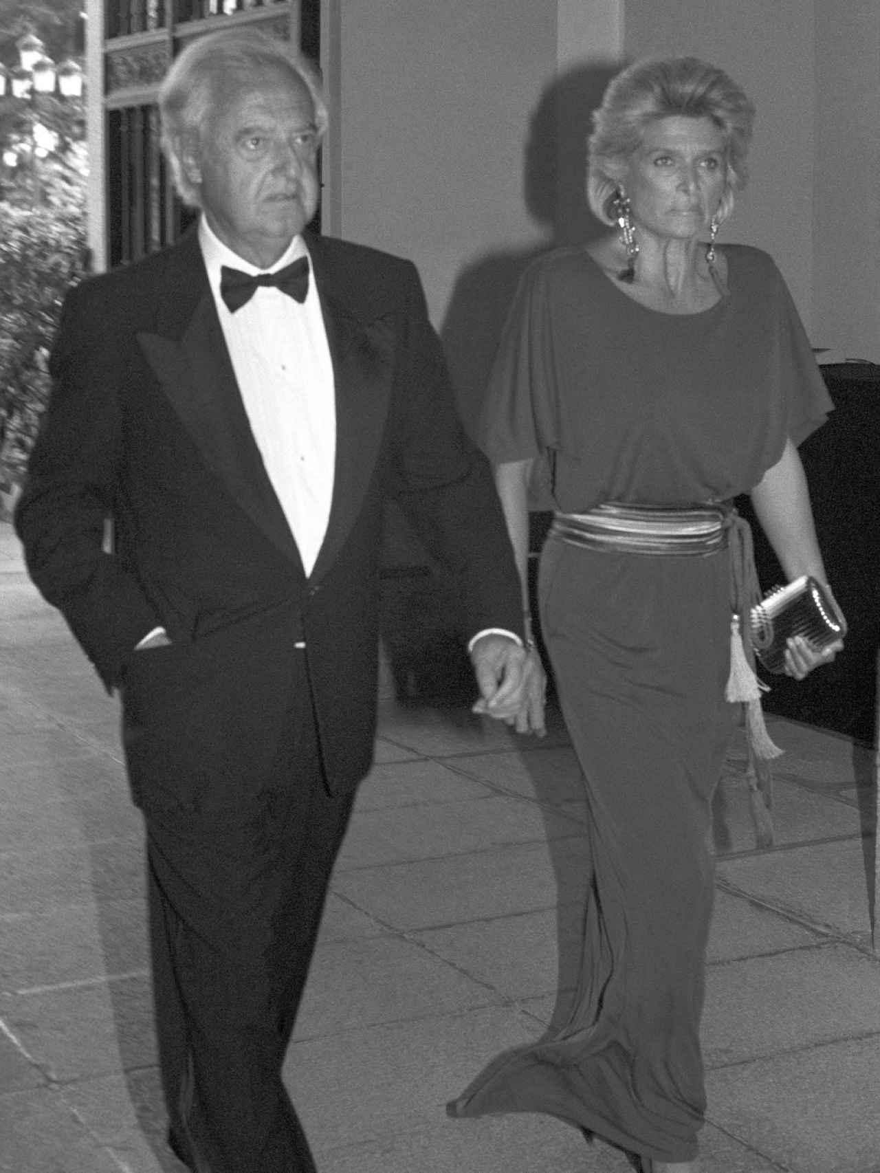 Ramón Mendoza con su segunda esposa, la suiza Jeannine Girod.