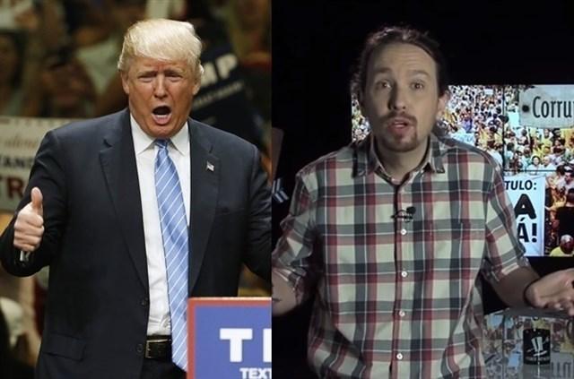 Donald Trump y Pablo Iglesias.