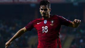 André Silva en un encuentro con Portugal.