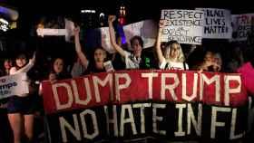 Manifestantes durante este viernes.