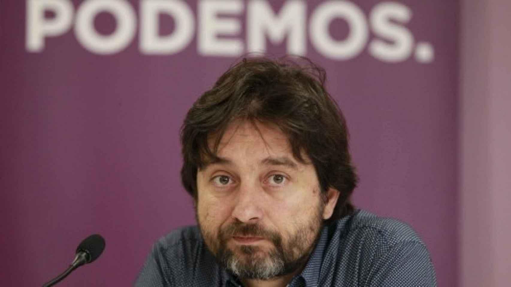 Rafa Mayoral, en la sede de Podemos.
