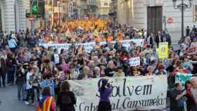 Manifestación de la plataforma Salvem El Cabanyal.