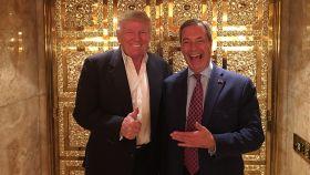 Farage y Trump, tras ser elegido este presidente de EEUU.