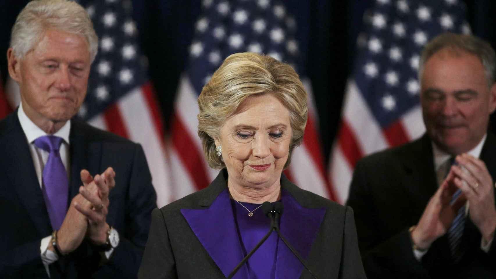 La ex candidata presidencial, en su discurso después de los comicios.
