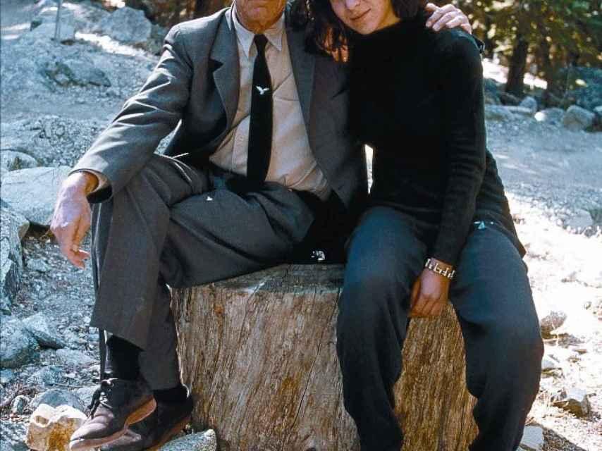 Leonard Cohen y su hija Lorca