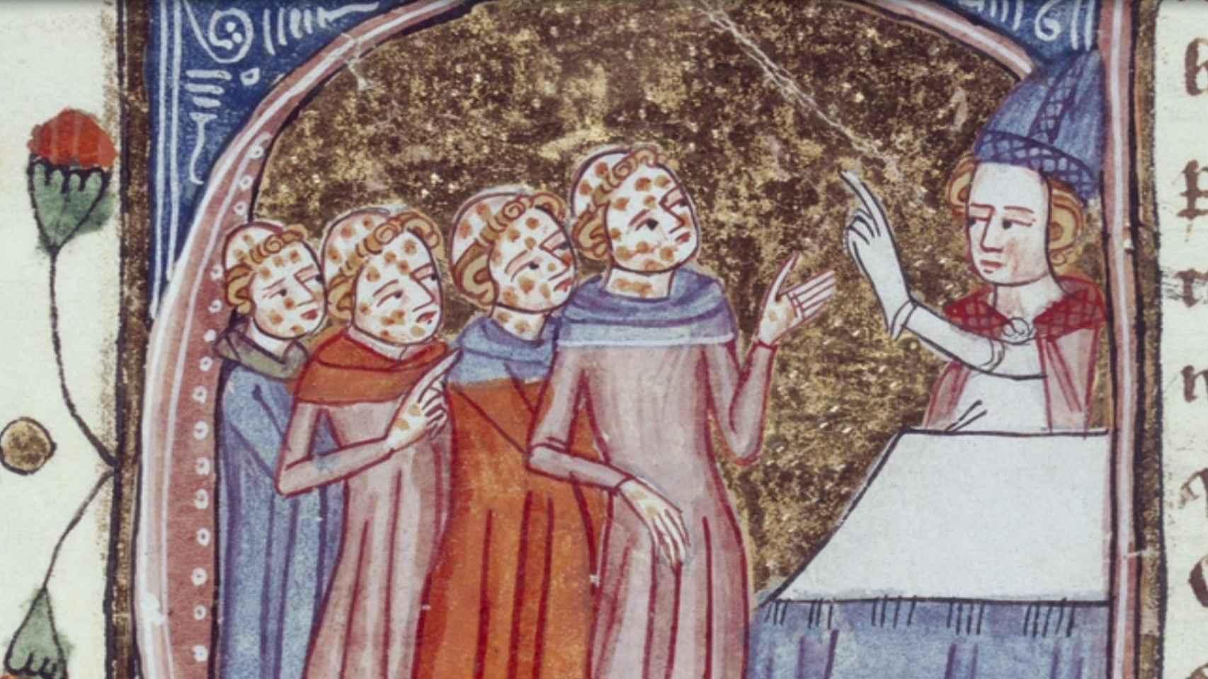 Obispo bendice a clérigos con lepra.