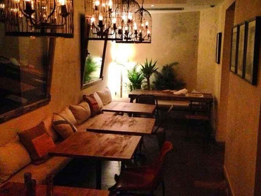 Interior del restaurante de Estefanía Luyk
