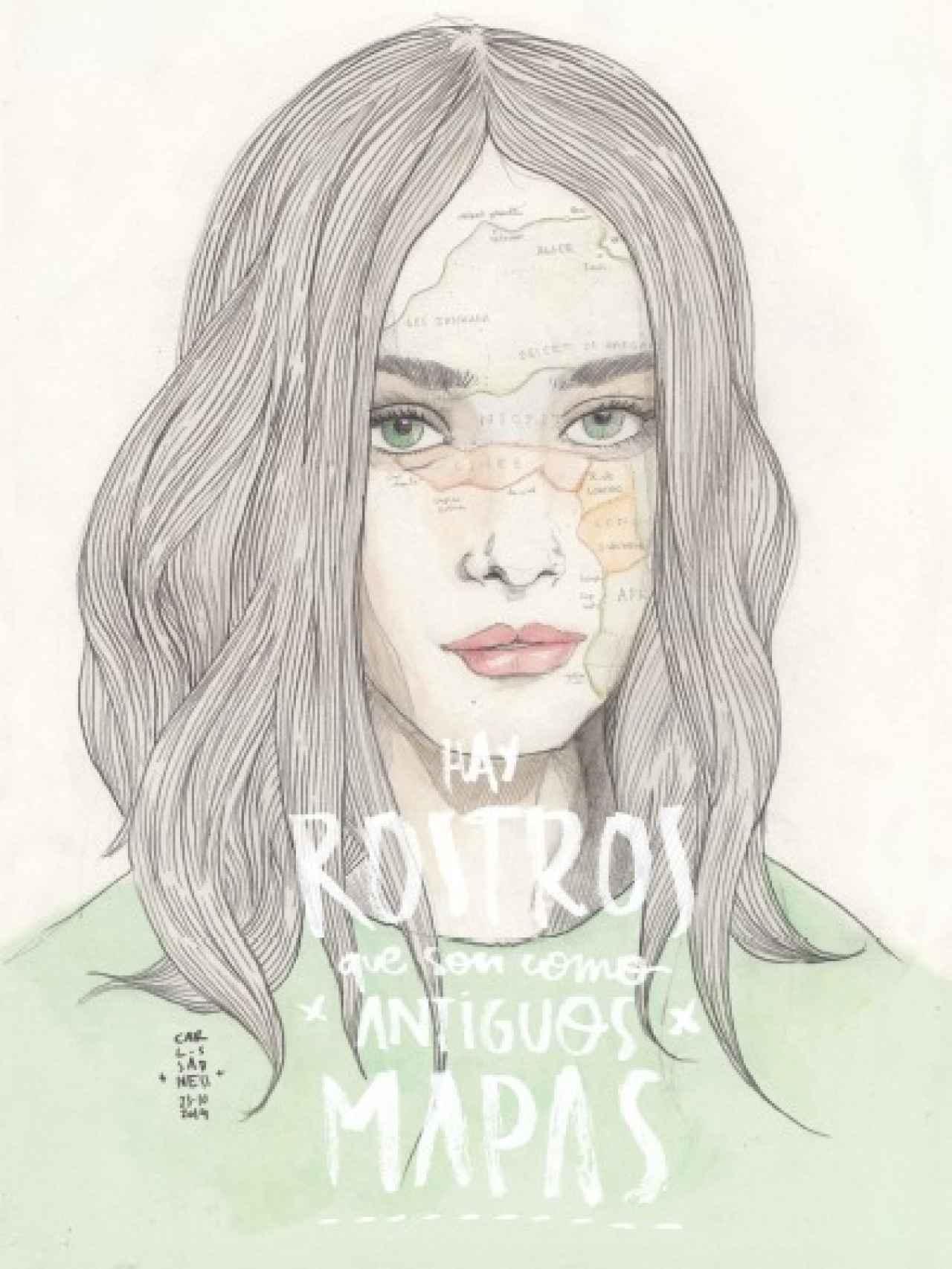 Una de las ilustraciones de Anatomías íntimas, el nuevo libro de Carlos Sadness.