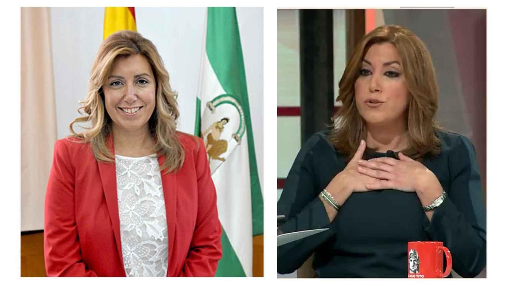 La presidenta de la Junta de Andalucía en 2013 y en 2016.