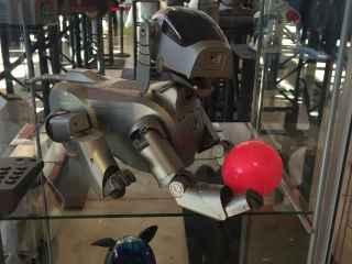 Un robot Aibo de Sony de principios de siglo.